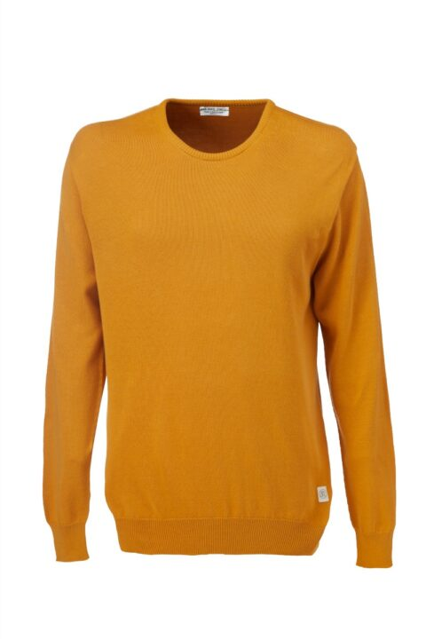 Men Sweater basic amber Swiss Edition