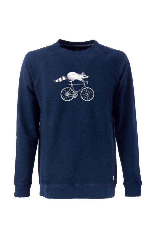 Men Sweater Raccoon blue