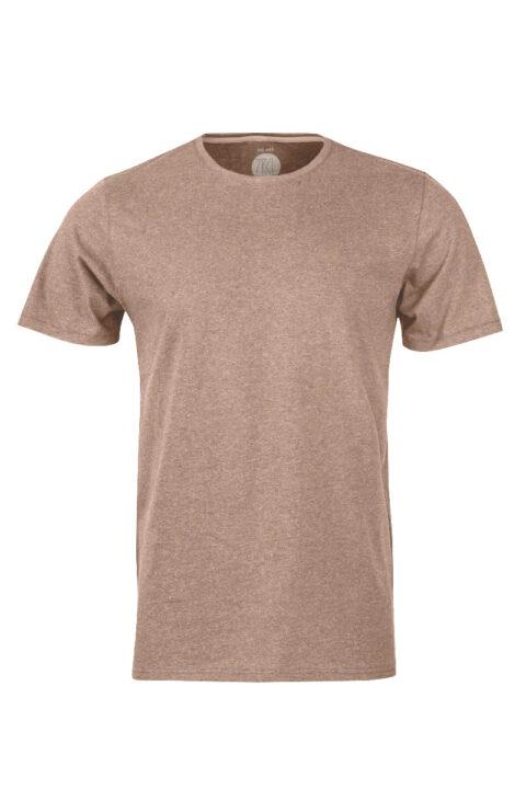 Men basicT-Shirt brown mel.