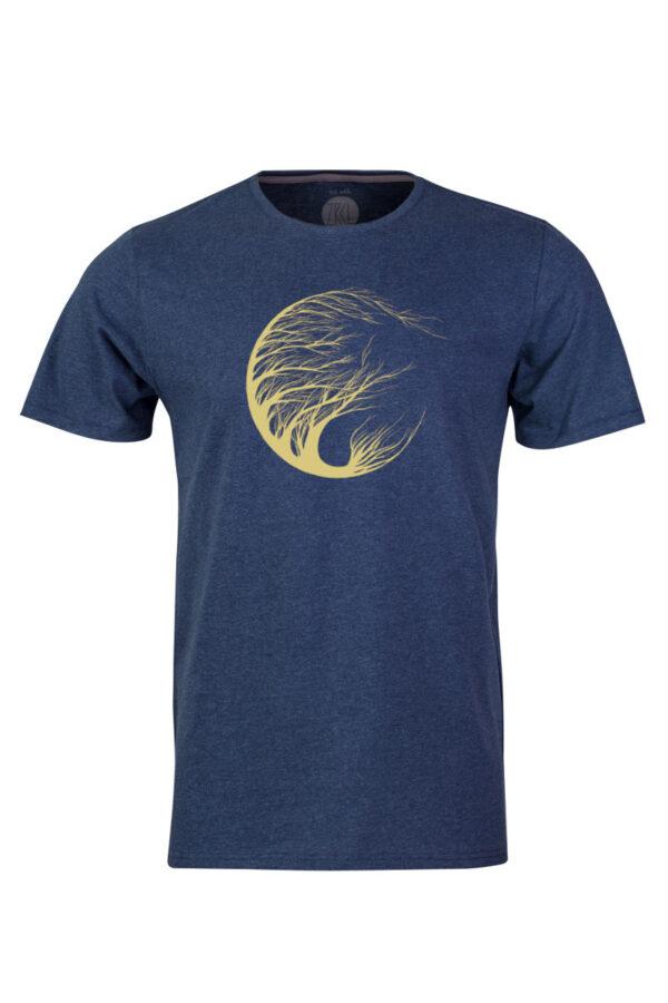 Men Circle Tree T-Shirt by Marisa Senn blue stone