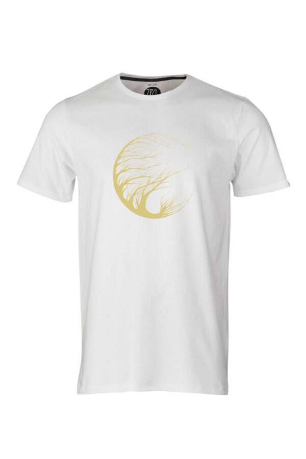 Men Circle Tree T-Shirt by Marisa Senn white