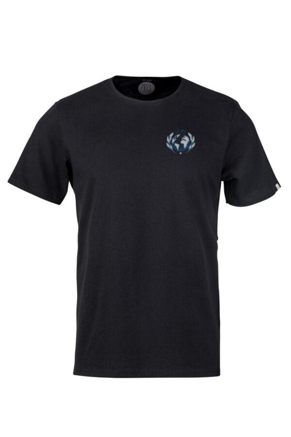 Men Earth T-Shirt by Rips1 black