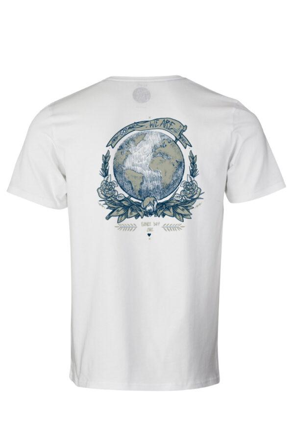 Men Earth T-Shirt by Rips1 white
