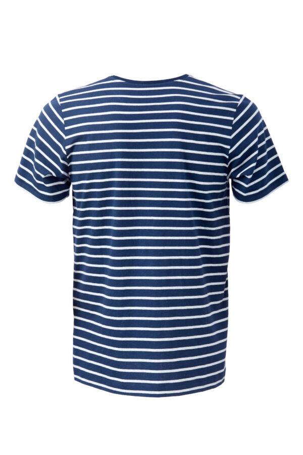 Men T-Shirt ringel blue