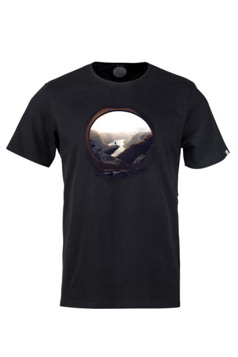Men T-Shirt Tent black by Tom Klocker