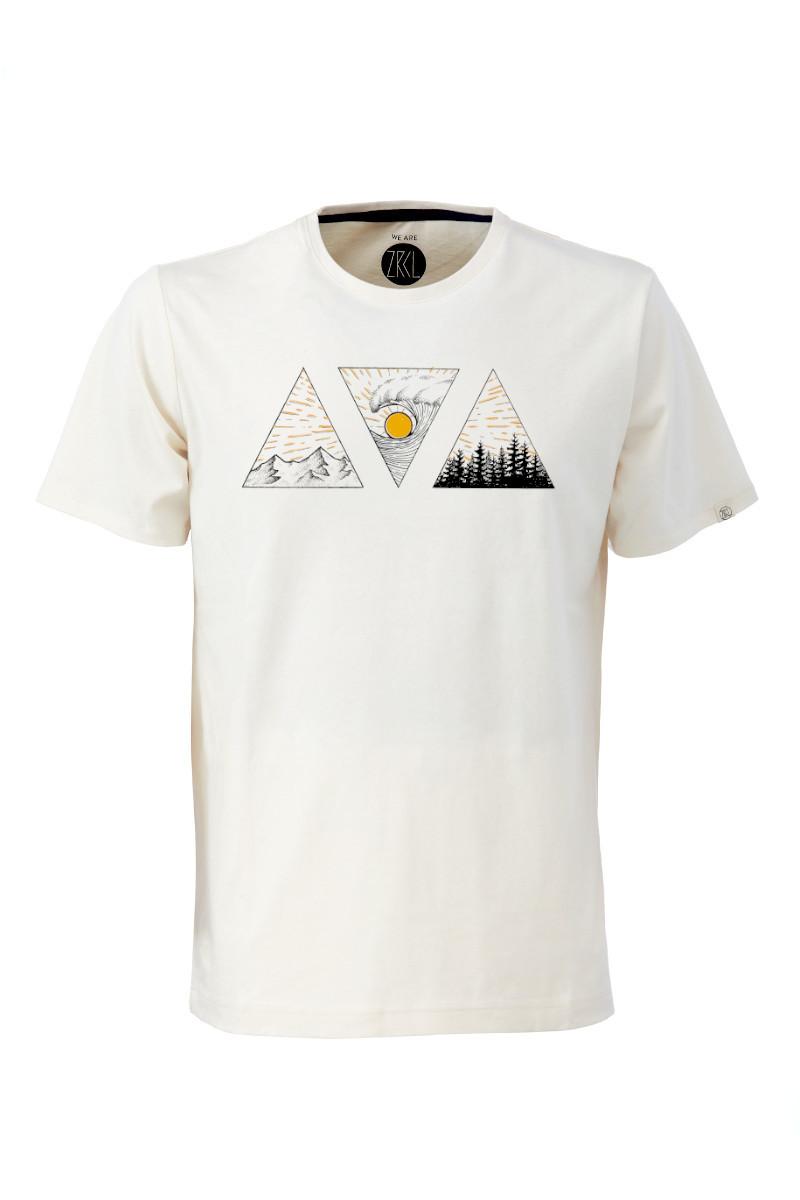 Men T-Shirt Triple by Fabian Lavater Art