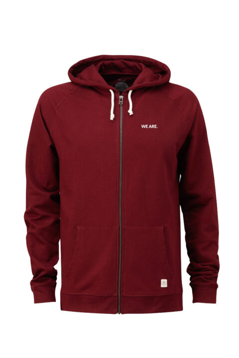 Men Zip-Hoodie we are 2.0 bordeaux