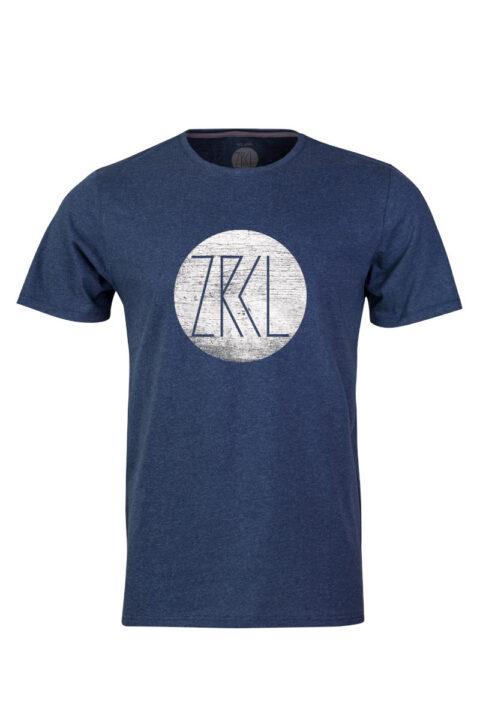 Men T-Shirt Logo Wood blue stone