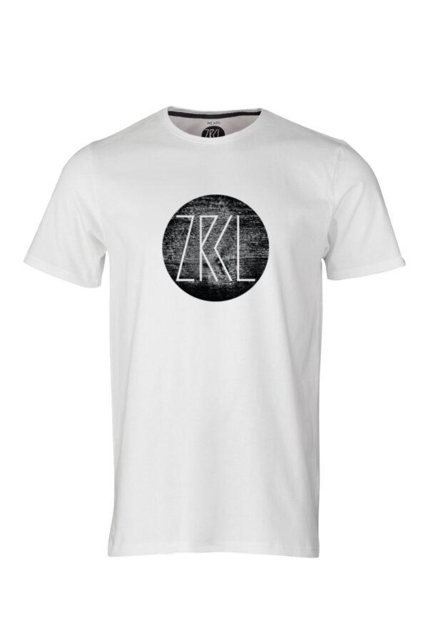 men T-Shirt Logo Wood weiss