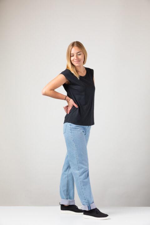 Women basic Two-Shirt black