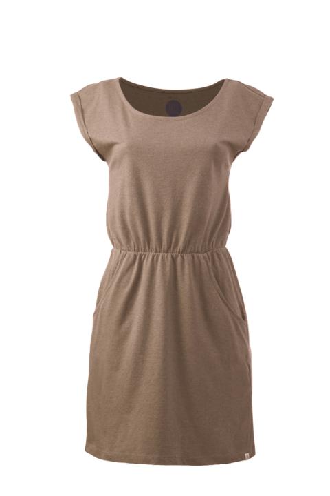 Women basic Dress brown mel.