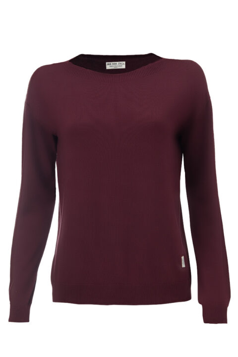 Women Sweater basic dark wine Swiss Edition