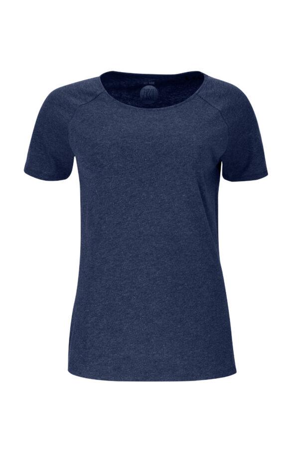 Women Basic T-Shirt blue stone