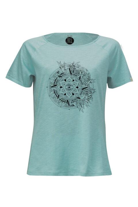 Women T-Shirt Eye teal Iuna Tinta Corinne Wiedmann