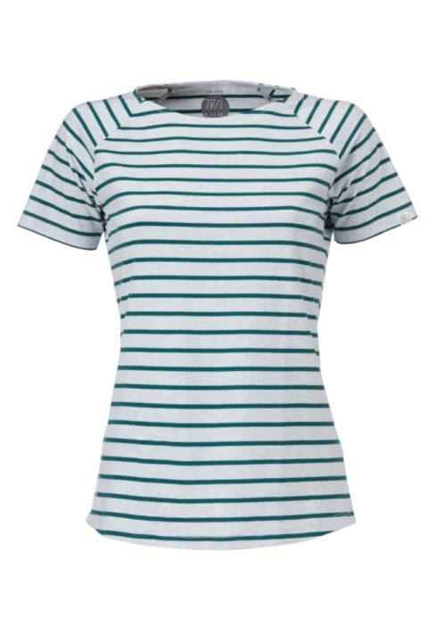 Women Ringel T-Shirt silver shine
