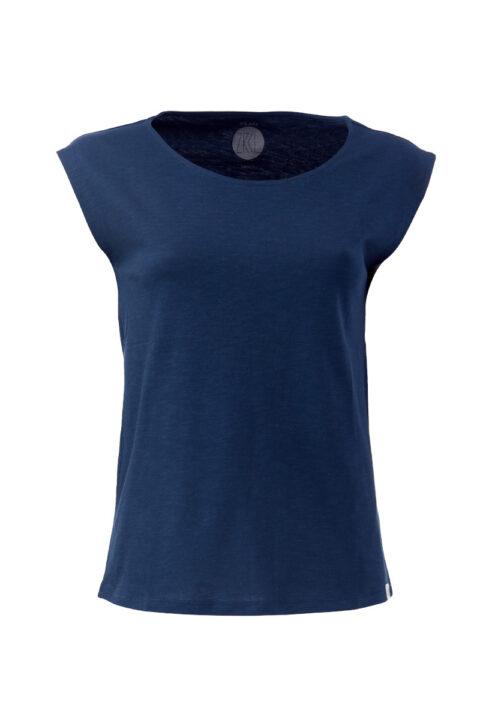Women basic Two-Shirt blue