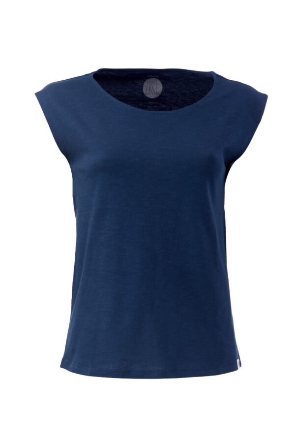 Women basic Two-Shirt blue