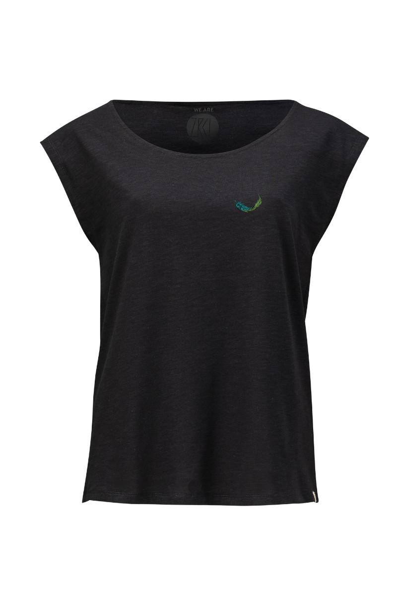 Women Two-Shirt Dabu Feather black