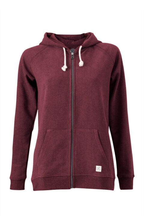Women basic Zip-Hoodie dark wine